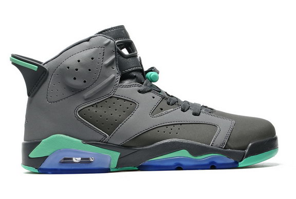 Air Jordan 6 Retro Shoes Dark Grey/Green
