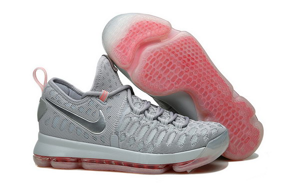"KD 9 ""PRE HEAT"" Shoes Cool Grey/Red"