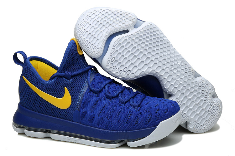 "KD 9 ""Warriors"" Shoes True Blue/Yellow"