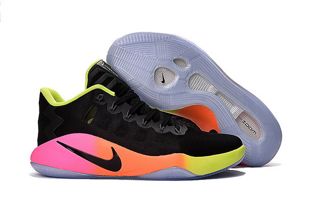 Zoom Hyperdunk 2016 low Shoes Black/pink orange green