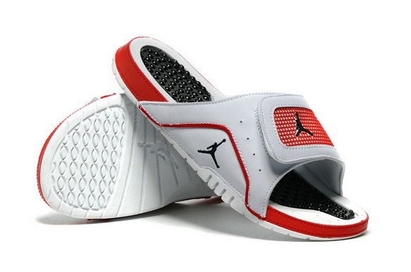 Air Jordan Hydro 4 Retro Shoes White/red black