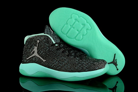 Air Jordan Ultra Fly Shoes Black/Green Grey