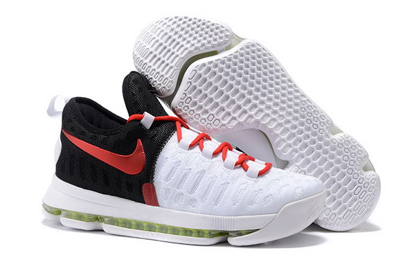 KD 9 Basketball Shoes Black/Red White