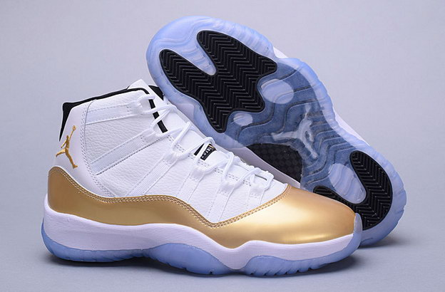 "Air Jordan 11 ""Gold"" Shoes White/gold"
