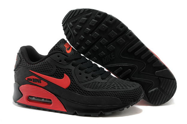 Air Max 90 Shoes Black/red