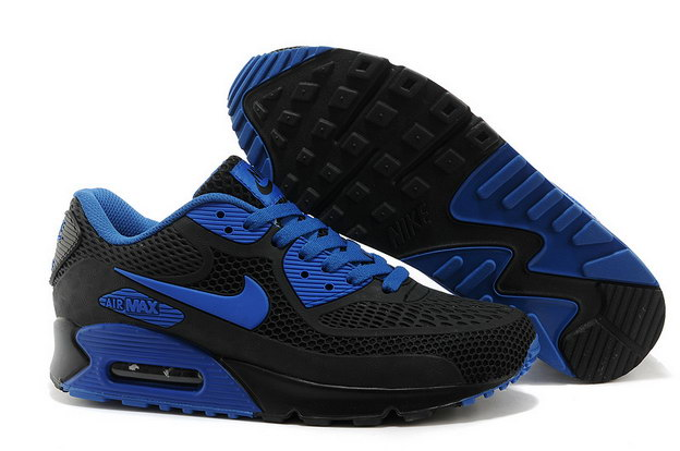 Air Max 90 Shoes Black/blue