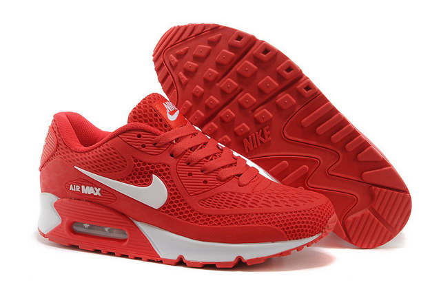Air Max 90 Shoes Red/white