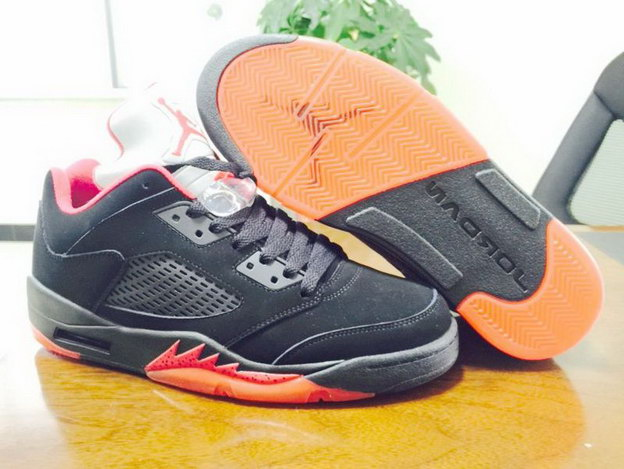 "Air Jordan 5 Low ""Alternate"" Shoes Black/Red"