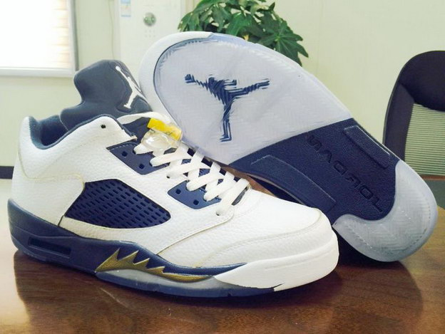 "Air Jordan 5 Low ""Dunk From Above"" Shoes White/blue yellow"
