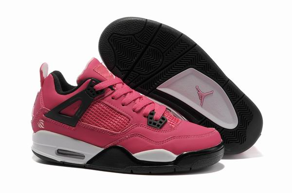Womens Air Jordan 4 Shoes Red/White