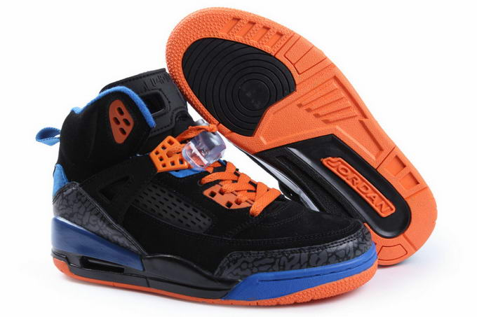 Womens Jordan 3.5 Spizike Shoes Black/Blue/Orange