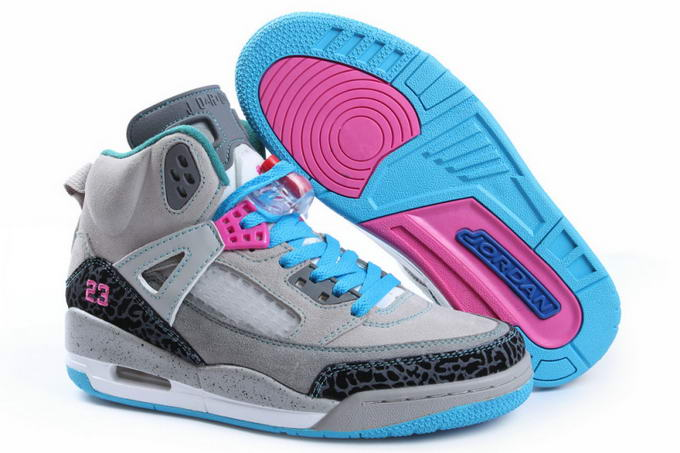 Womens Jordan 3.5 Spizike Shoes Light gray/Blue/Pink