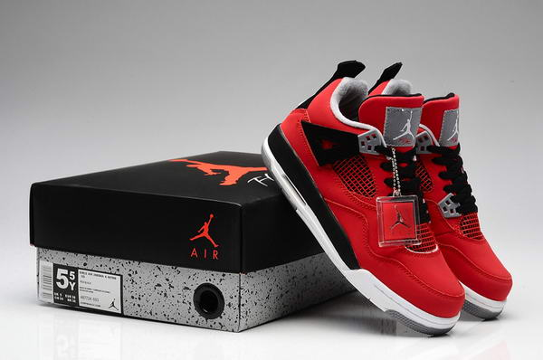 WMS Jordan 4 Red Bull Shoes Red