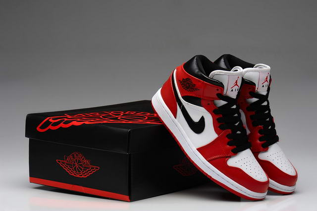 innovative design 0ee5a c6011 Air Jordan 1 For Women Shoes White/Black/Red :