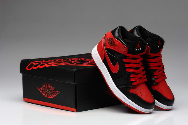 Air Jordan 1 For Women Shoes Black/Red