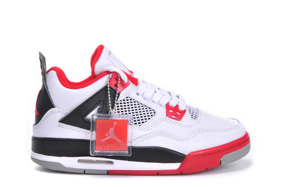 Womens Jordan 4 Shoes white/black/red