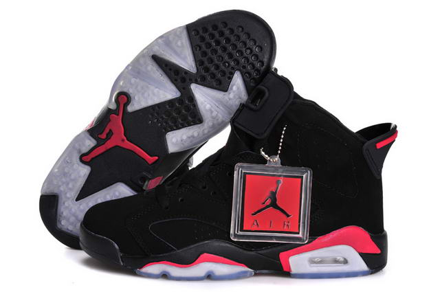 Air Jordan 6 (VI) Retro Women Infrared Shoes black/Infrared