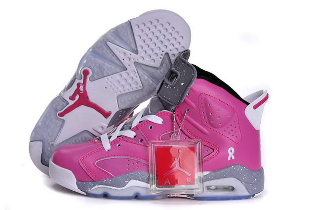 Air Jordan 6 (VI) Retro Women New 2013 Shoes PINK FLASH/White gray black