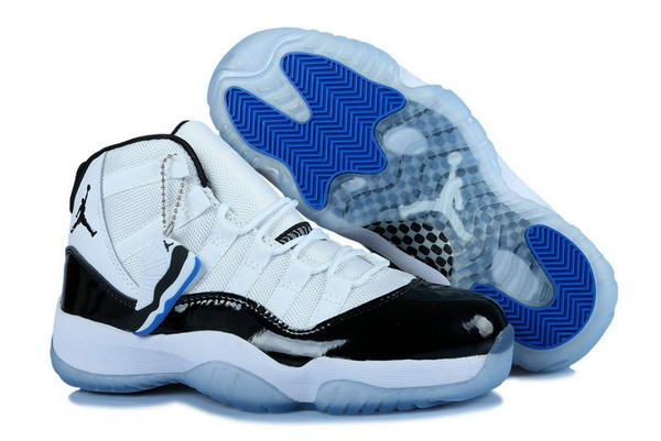 Womens Air Jordan 11 (XI) Retro Shoes white/black blue