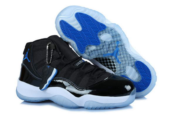 Womens Air Jordan 11 (XI) Retro Shoes black/blue white
