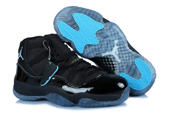 Womens Air Jordan 11 (XI) Retro Shoes gamma blue/black