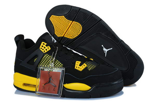 Air Jordan 4 Womens Shoes yellow/black
