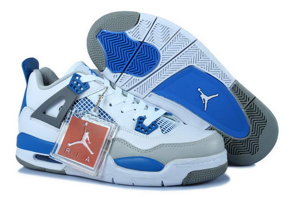 Air Jordan 4 Womens Shoes blue/white gray