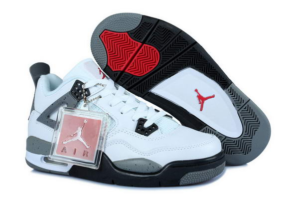 Air Jordan 4 Womens Shoes white/gray black red
