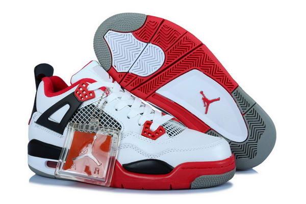 Air Jordan 4 Womens Shoes fire red/white black gray