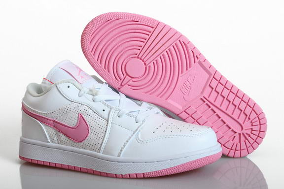 Womens Air Jordan 1 Retro Shoes Pink/white