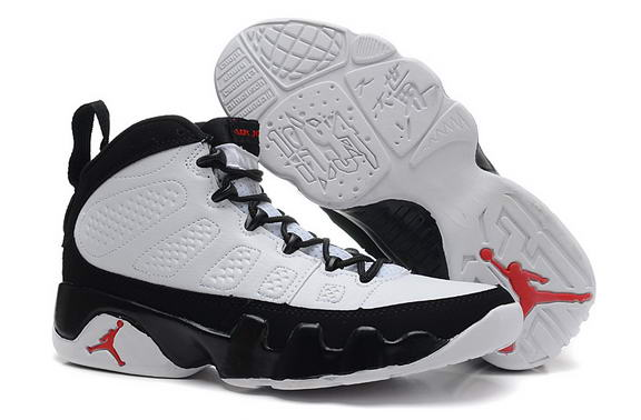 Womens Air Jordan 9 Retro Shoes White/black red