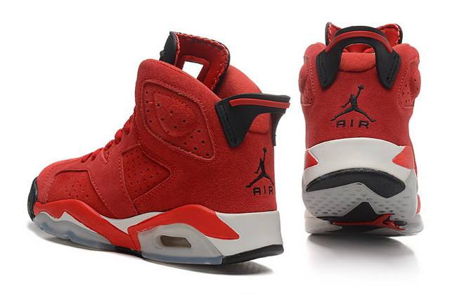 Womens Air Jordan 6 Shoes Red/black