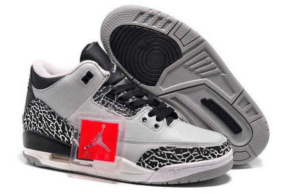 Jordan 3 For Womens Shoes Cool grey