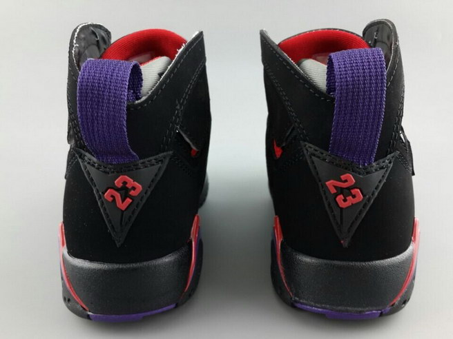 Air Jordan 7 For Womens Shoes Black/red yellow