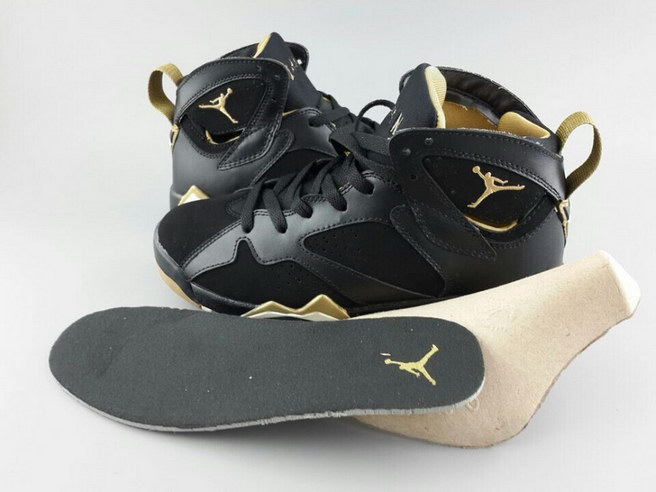 Air Jordan 7 For Womens Shoes Black/yellow