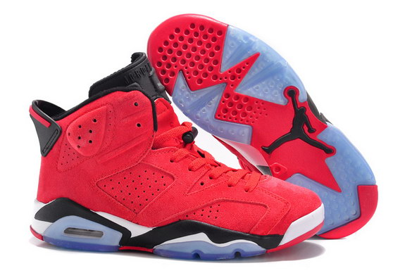 Air Jordan 6 For Women Shoes Red/black