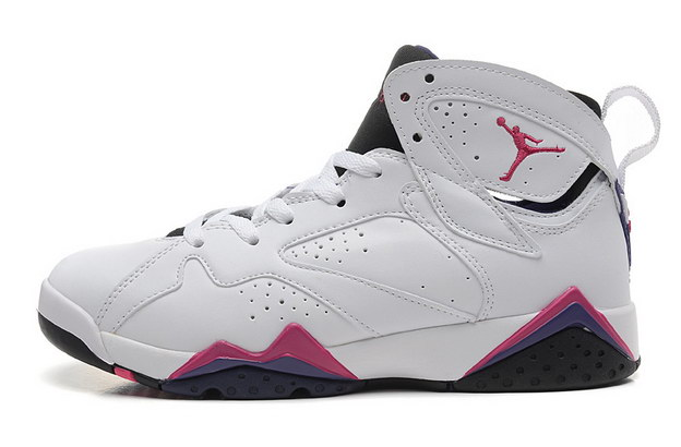 WMNS Air Jordan 7 GS Shoes White/red blue