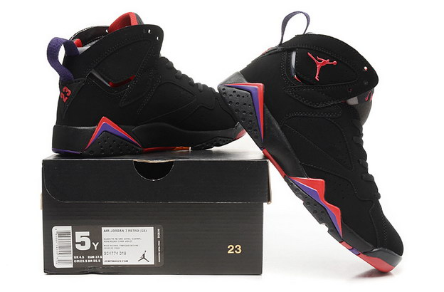 WMNS Air Jordan 7 GS Shoes Black/red