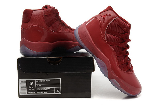 Women Air Jordan 11 Retro New Shoes Wine Red