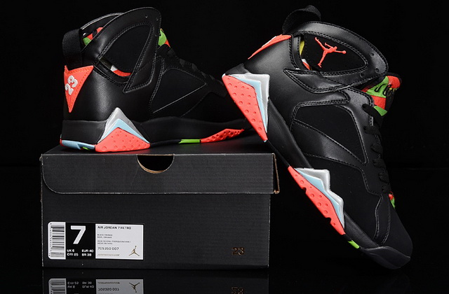 Air Jordan 7 barcelona nights GS Shoes Barcelona Nights Black/red green
