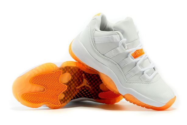 Air Jordan 11 Low GS Citrus Shoes White/yellow