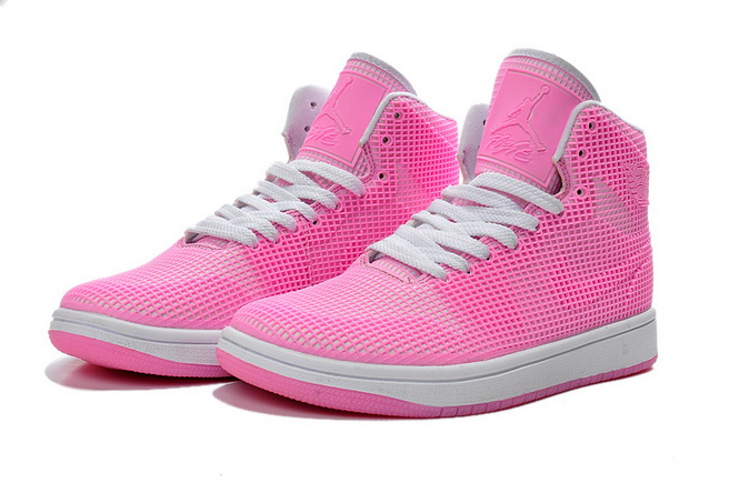 Womens Air Jordan 1 Shoes Pink/white