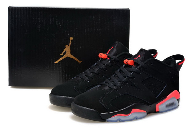 Air Jordan 6 Low GS Shoes Black/red