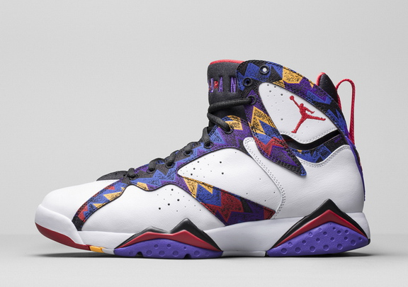 Womens Jordan 7 Retro Shoes White/Purple red