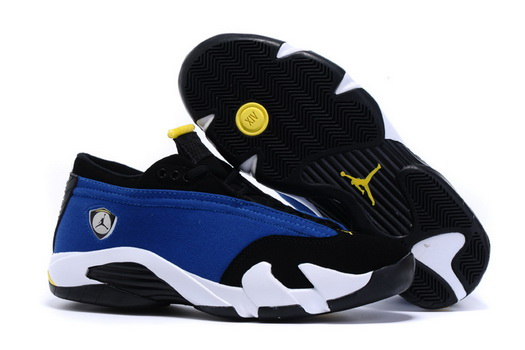 "Womens Air Jordan 14 ""laney"" Shoes Real blue/black white"
