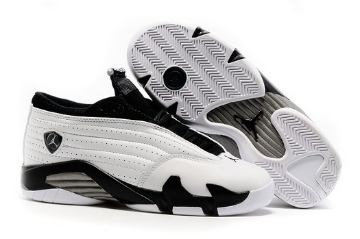 Women's Air Jordan 14 Shoes White/black