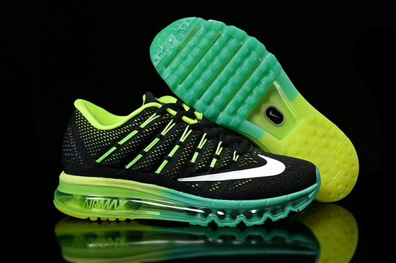 Women's Air Max 2016 Shoes Black/green white