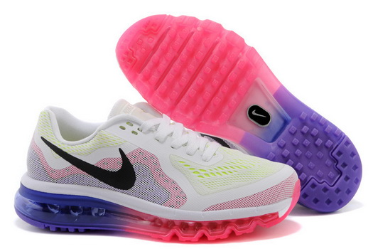 Women's Air Max 2014 Shoes White/black red