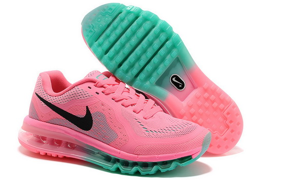 Women's Air Max 2014 Shoes Pink/black green