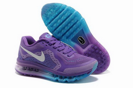 Women's Air Max 2014 Shoes Purple/white blue